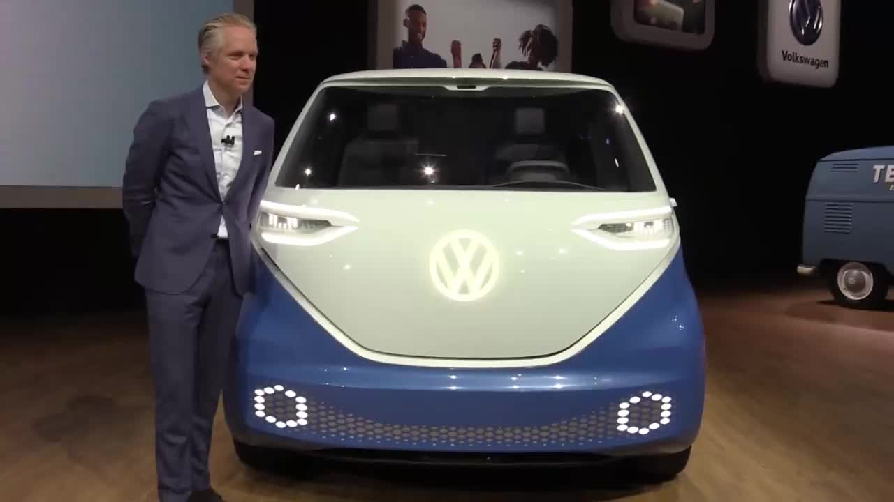 USA: Volkswagen unveils \'Buzz Cargo\' electric delivery vehicle