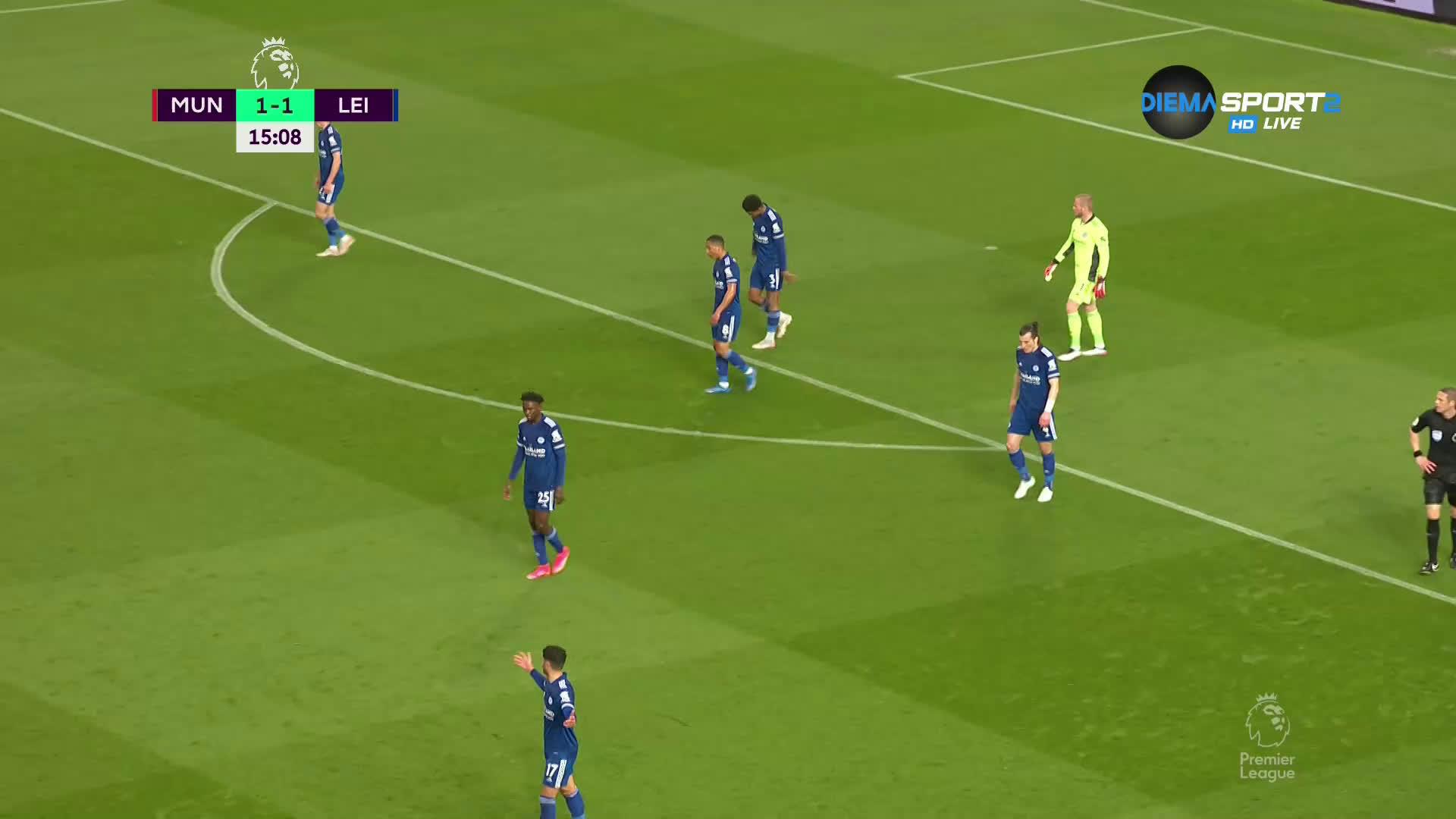 Манчестър Юнайтед - Лестър Сити 1:1 /първо полувреме/