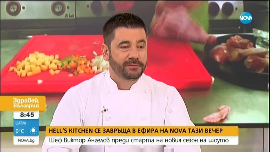 Шеф Виктор Ангелов преди старта на новия сезон на Hell's Kitchen