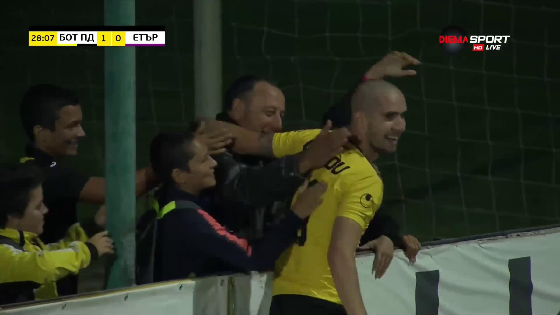 Ботев Пловдив - Етър 1:0 /първо полувреме/