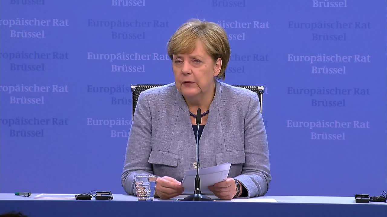 Belgium: Merkel opines on Iran, Turkey and Brexit during Brussels presser