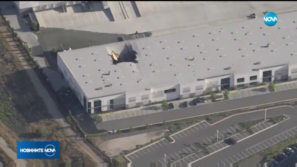Изтребител F-16 се разби в склад в Калифорния