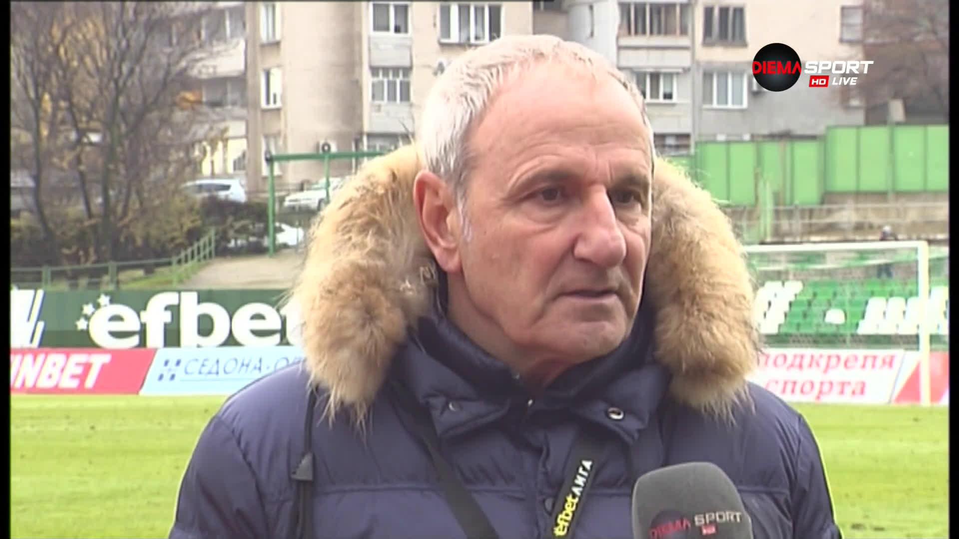 Никола Спасов след загубата от Берое