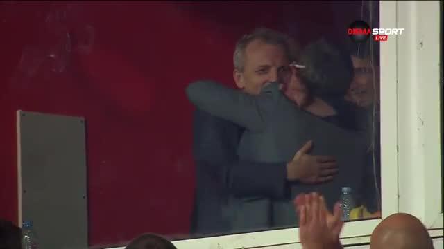 Радостта на Гриша Ганчев след победата на ЦСКА