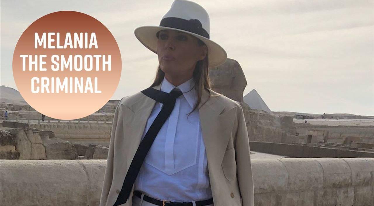 Twitter реагира на странния тоалет на Мелания Тръмп в Египет