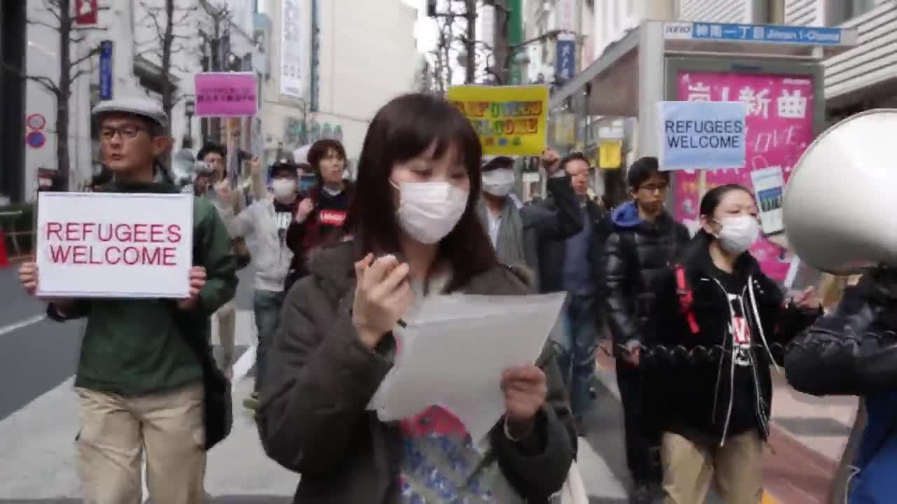 Japan: 'No one is illegal' - Protesters welcome refugees in Tokyo
