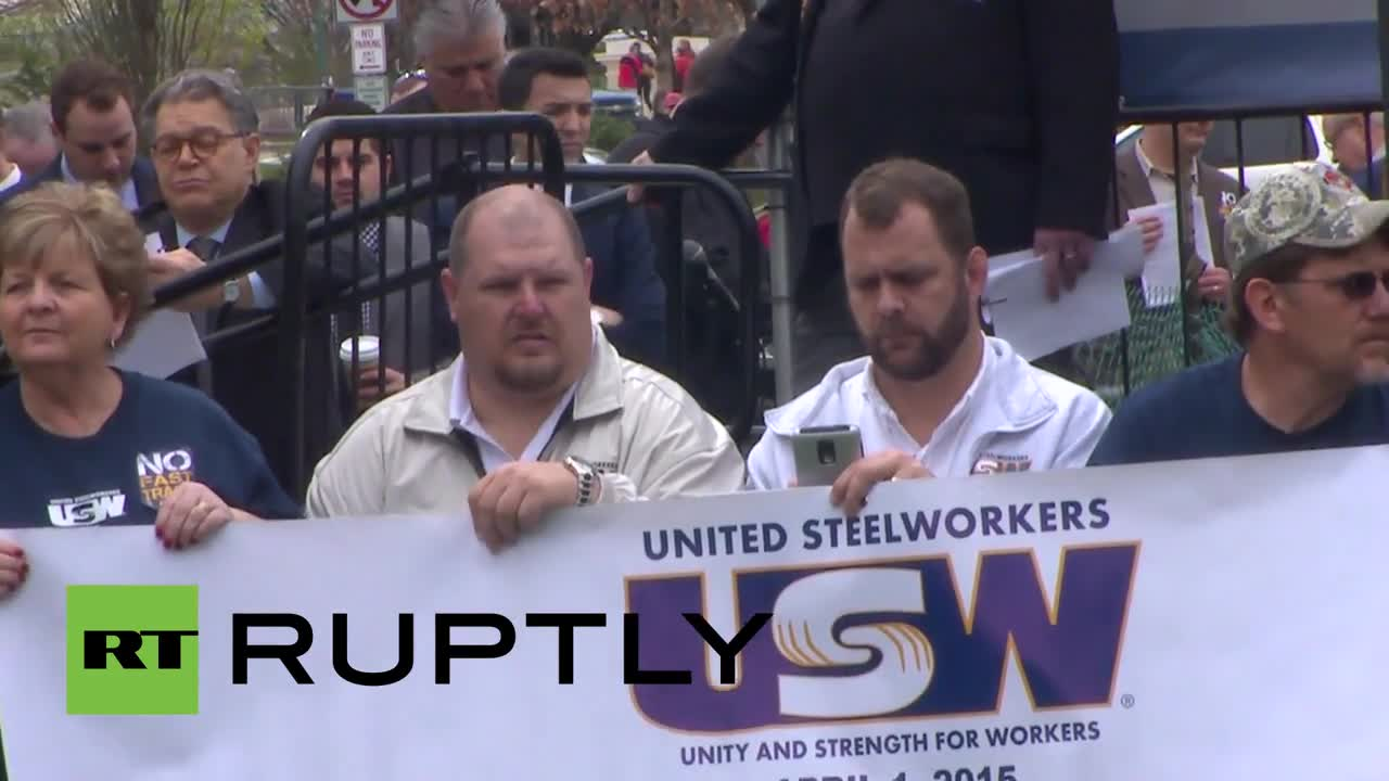 """USA: """"Fight back"""" against TPP protest hits Capitol Hill"""