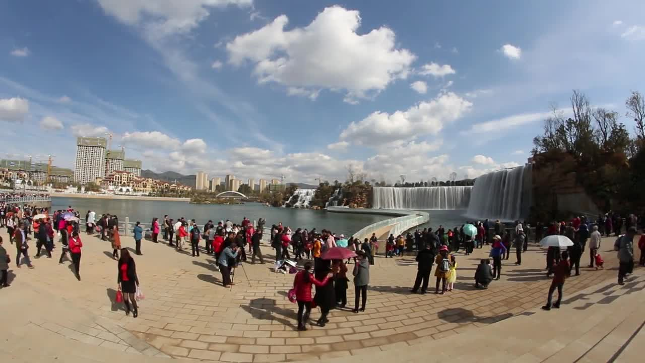 China: Visitors flock to see Asia\'s largest manmade waterfall