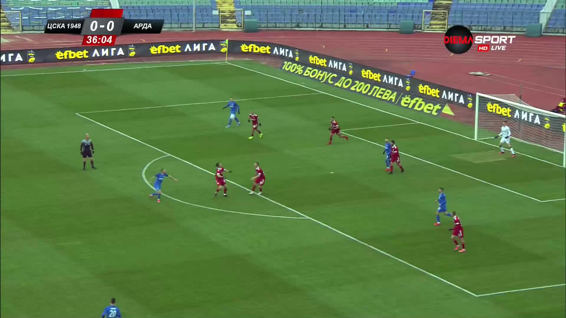 ЦСКА 1948 - Арда 0:0 /първо полувреме/