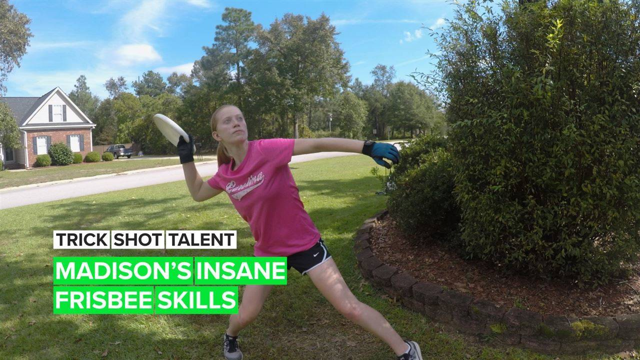 Trick Shot Talent: Did you know you can do this with a frisbee?