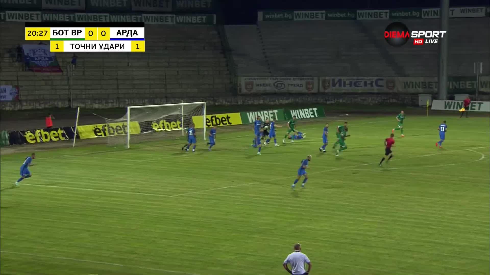 Ботев Враца - Арда 0:0 /първо полувреме/