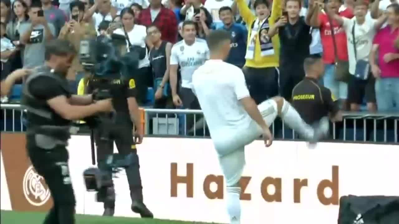 Как Реал Мадрид представи Еден Азар?