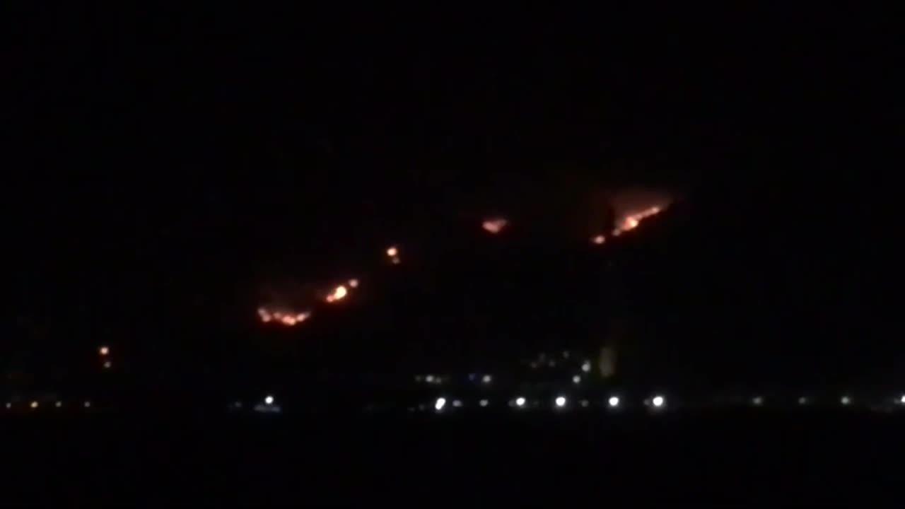 Turkey: Fires burn near coal-fired power plant in Milas