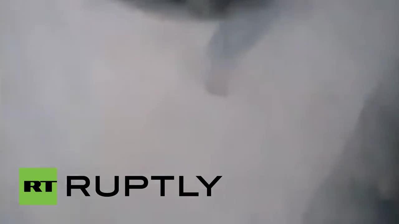 Моментът на падането на смъртоносната лавина в базовия лагер на Еверест