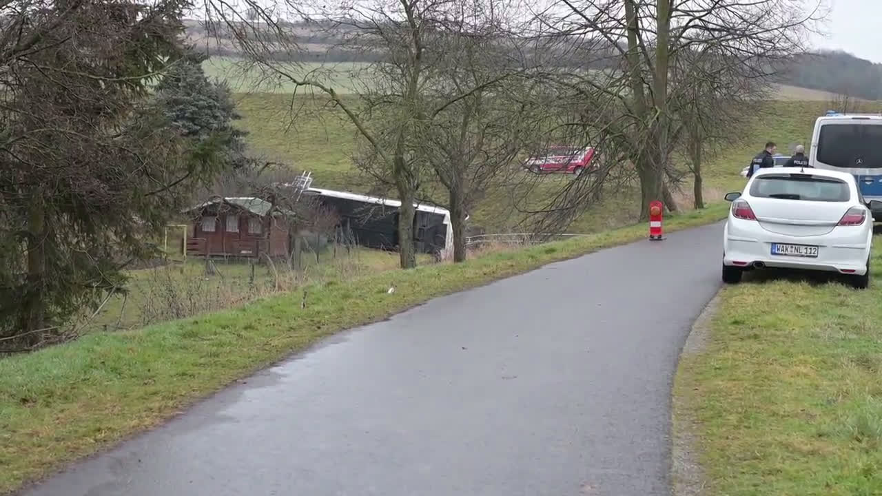 Germany: Two children dead, 20 injured after school bus crash in Thuringia
