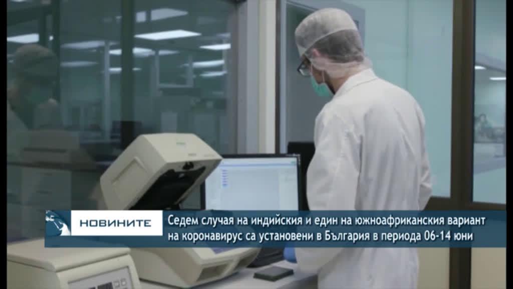Седем случая на индийския и един на южноафриканския вариант на коронавирус са установени в България