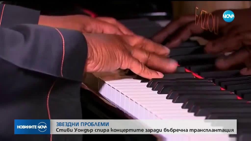 Стиви Уондър временно спира концертите