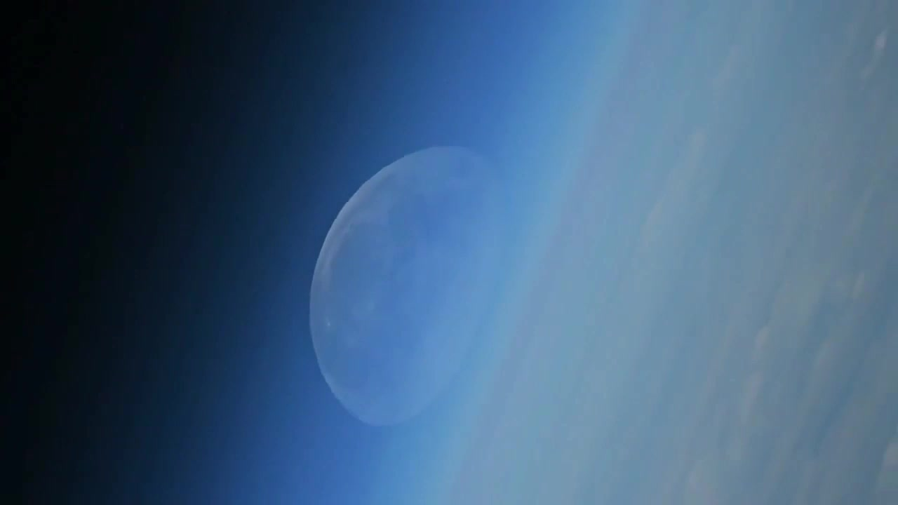 ISS: Watch disappearing moon filmed from the ISS!