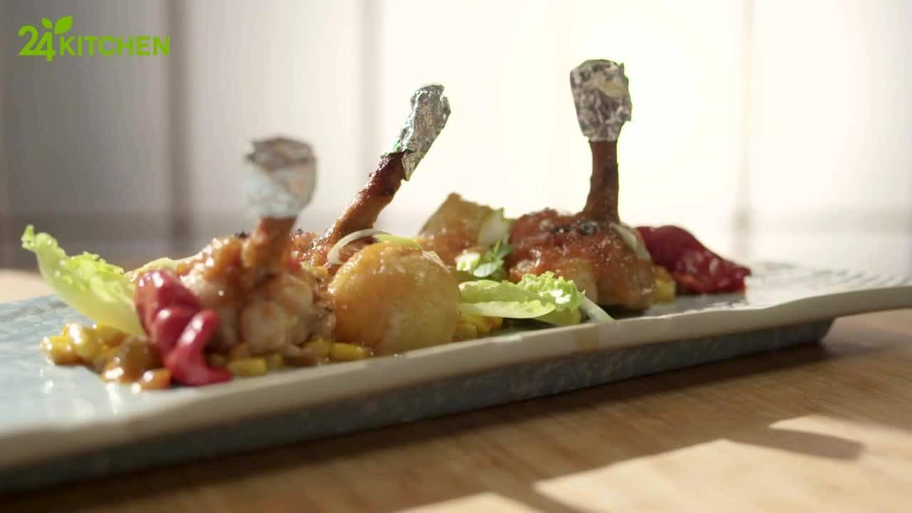 Пилешки крилца с лепкав сос