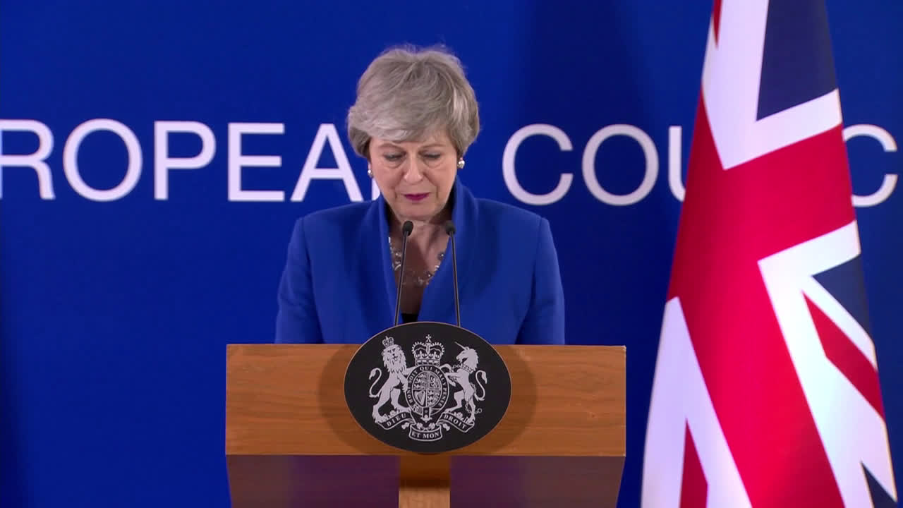 Belgium: \'UK should have left the EU by now\' - PM May on second Brexit delay