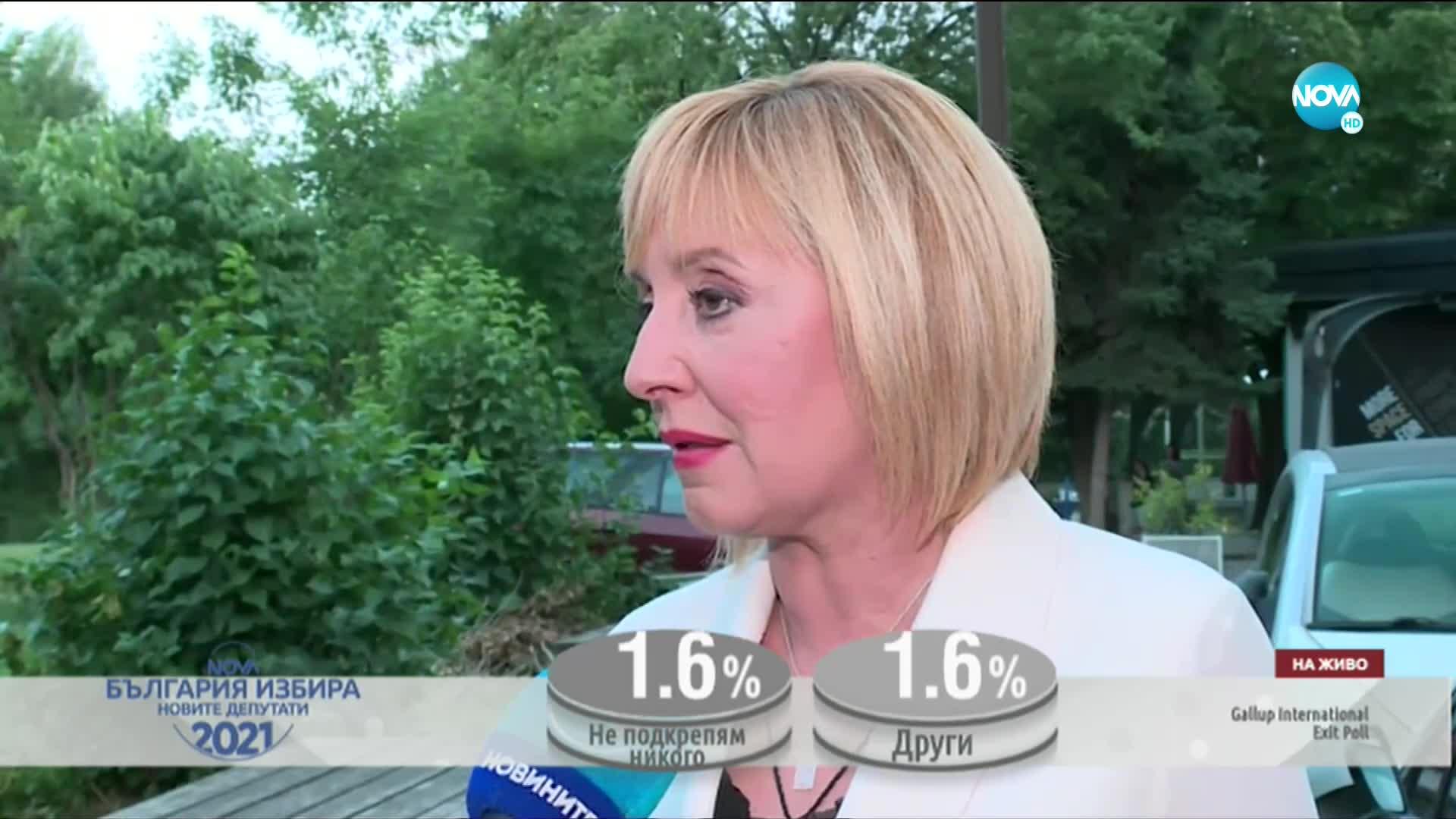 Мая Манолова: Партиите на протестите повишаваме своя резултат
