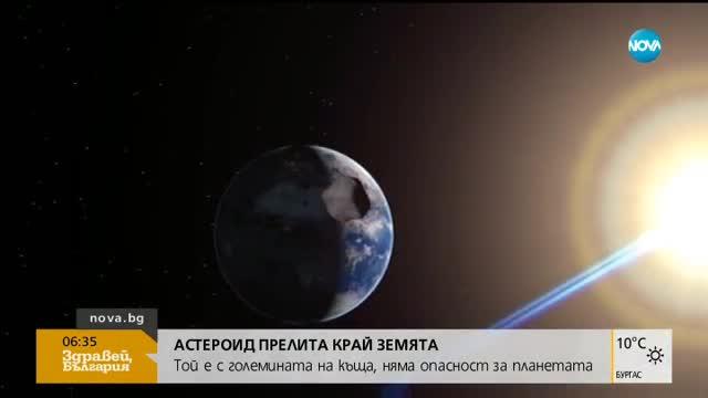 Астероид с големината на къща прелита край Земята