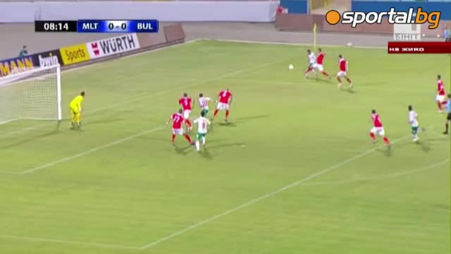 Страфотен гол на Радослав Димитров!!! ( България - Малта (0:1)