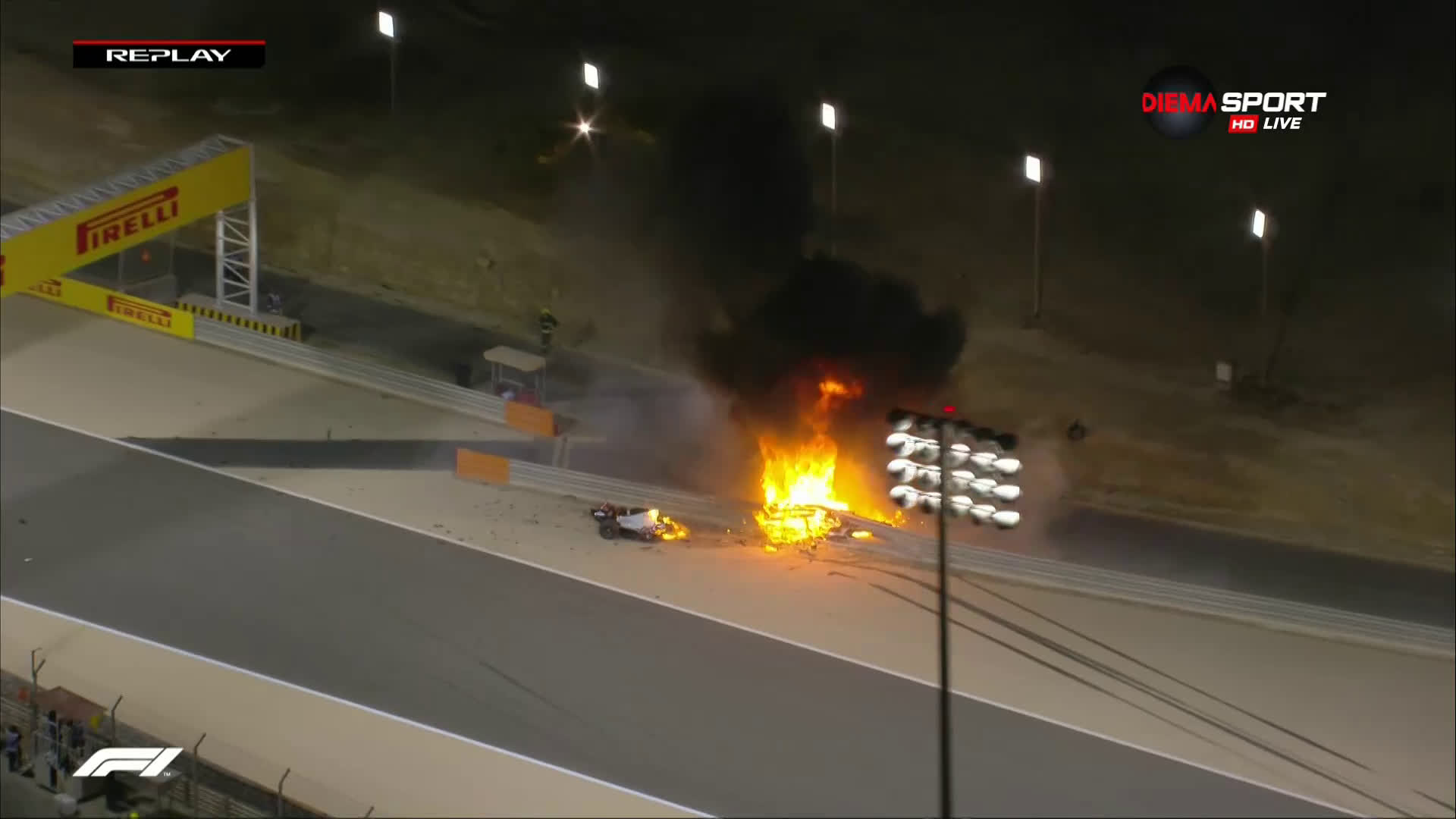Ужасяваща катастрофа на старта във Формула 1 в Бахрейн