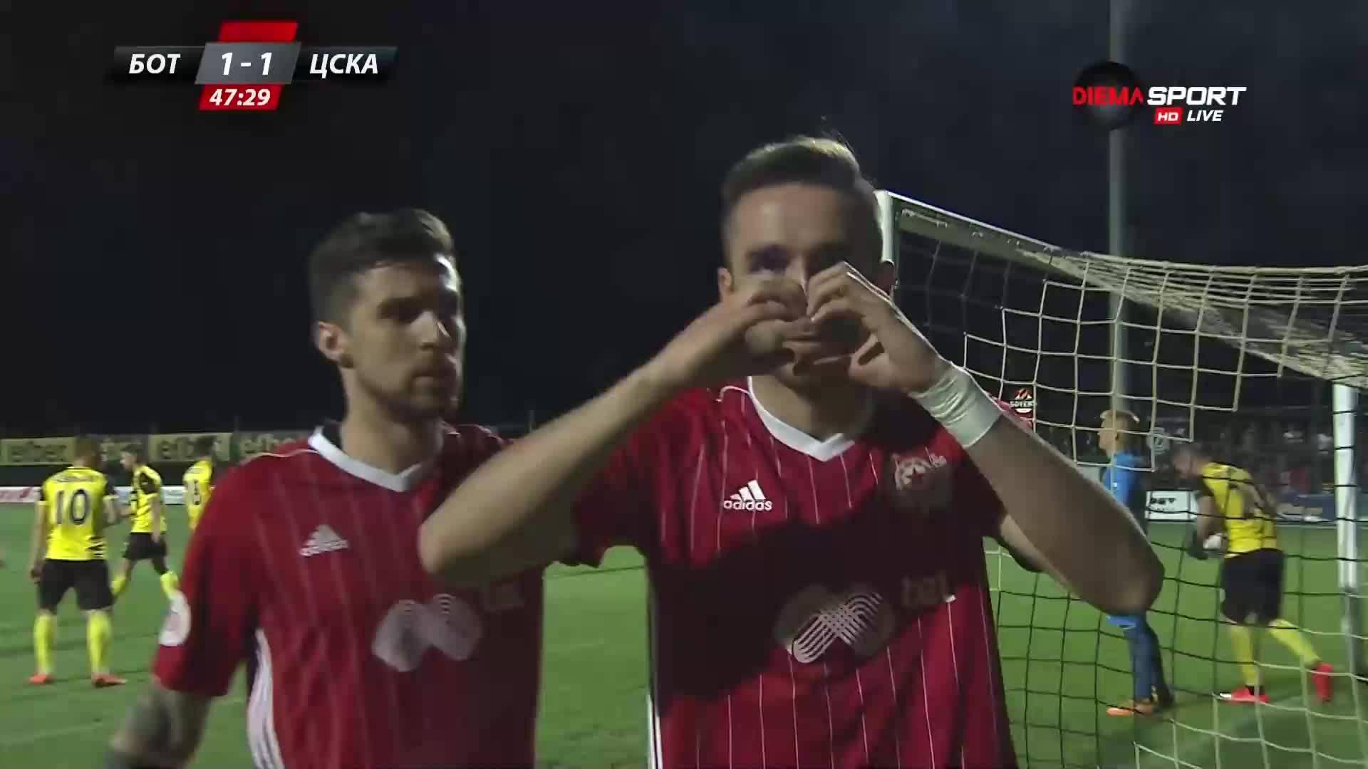 Хеан Бланко изравни за ЦСКА срещу Ботев