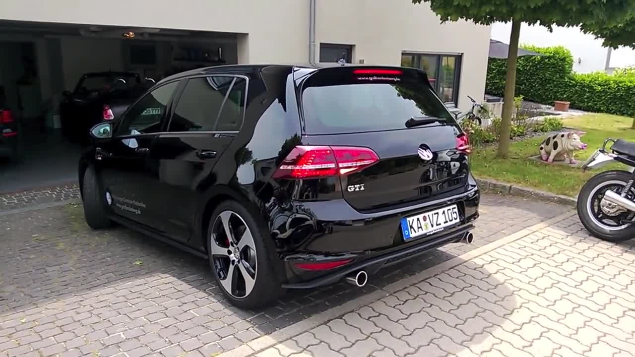golf 7 gti start up and sound vbox7. Black Bedroom Furniture Sets. Home Design Ideas