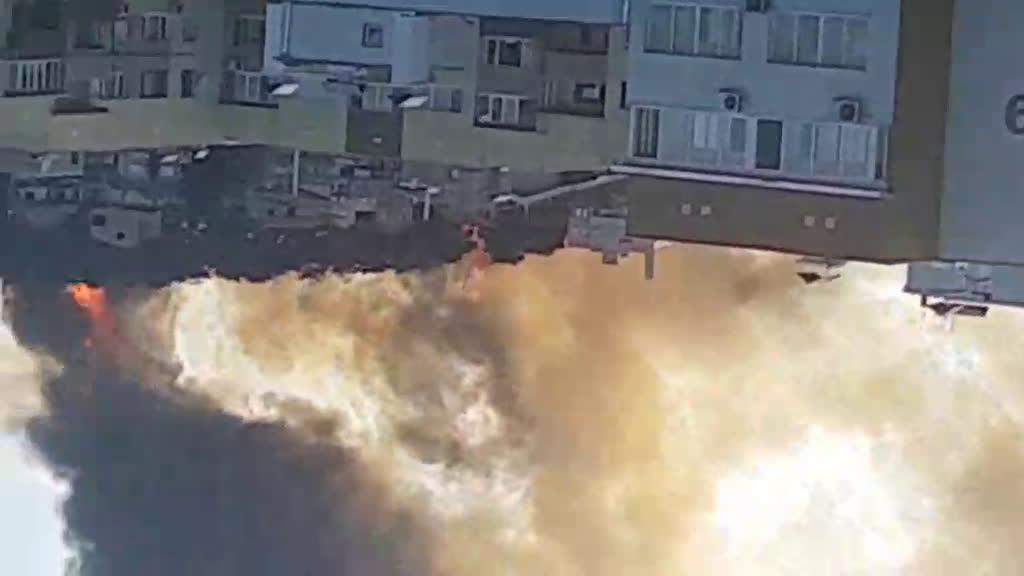 Голям пожар край Стара Загора