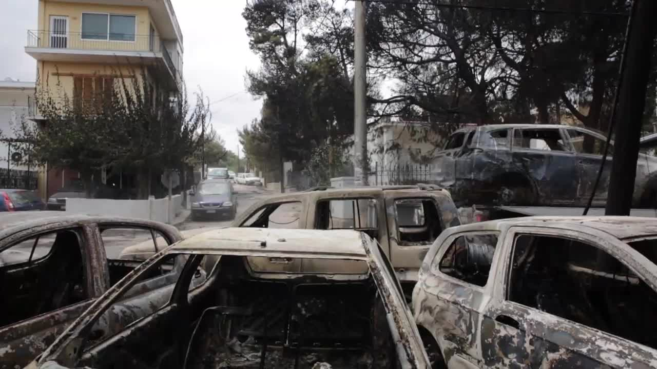 Greece: \'Complete desolation\' - Wildfire death toll rises to 74