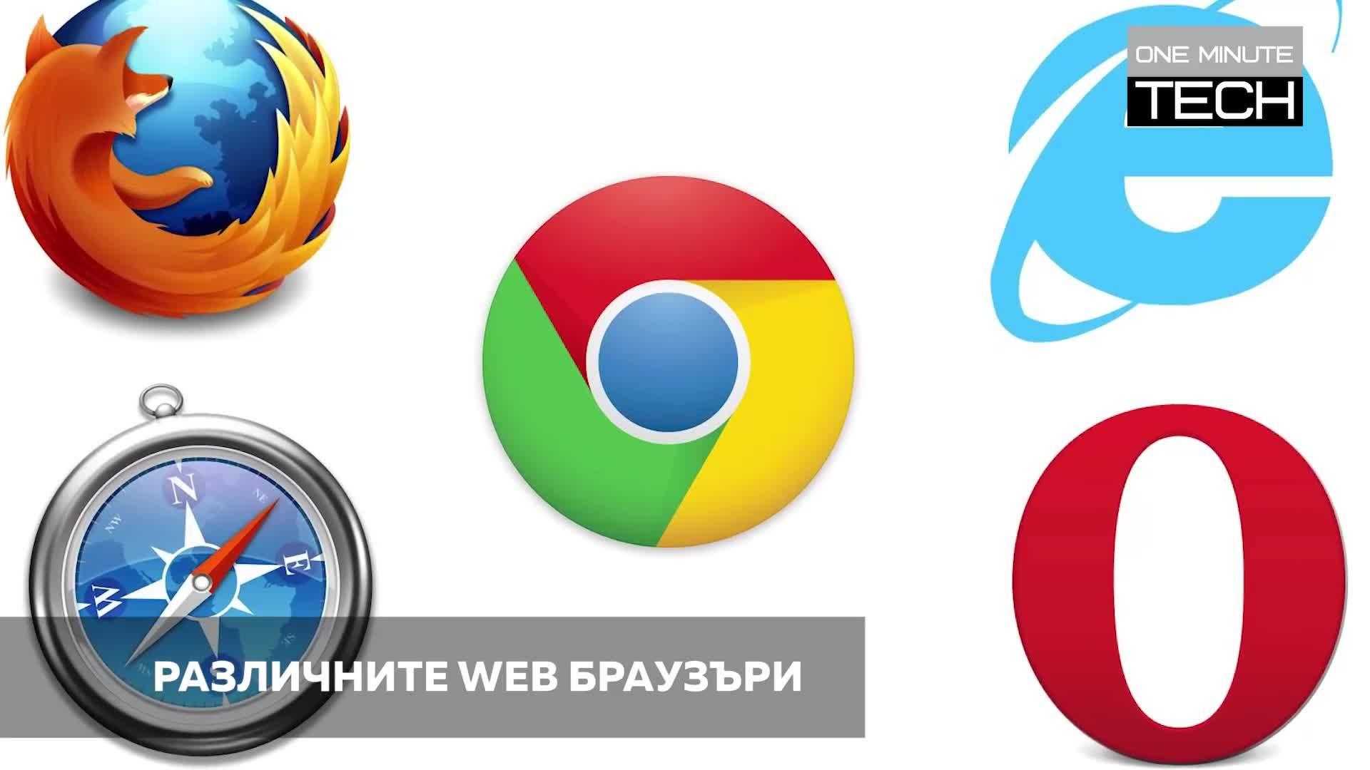 Кои са основните WEB браузъри, които трябва да познаваме?