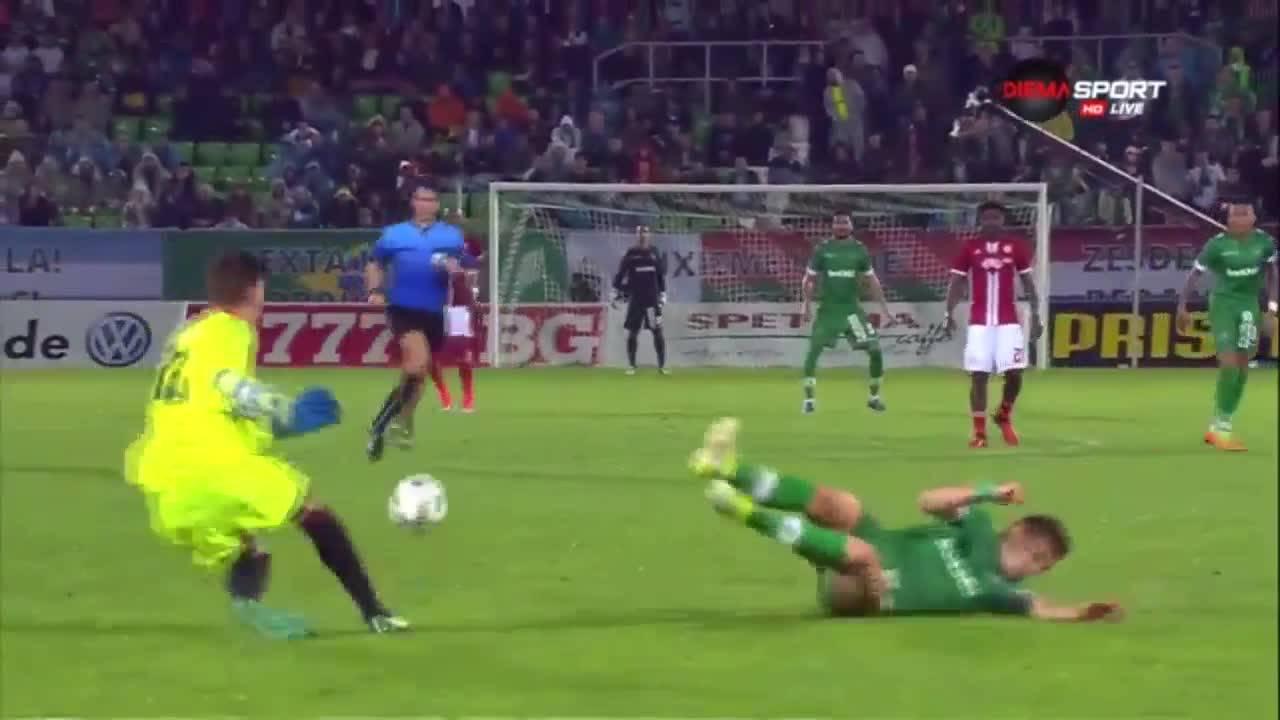 Голът на Светослав Дяков срещу ЦСКА