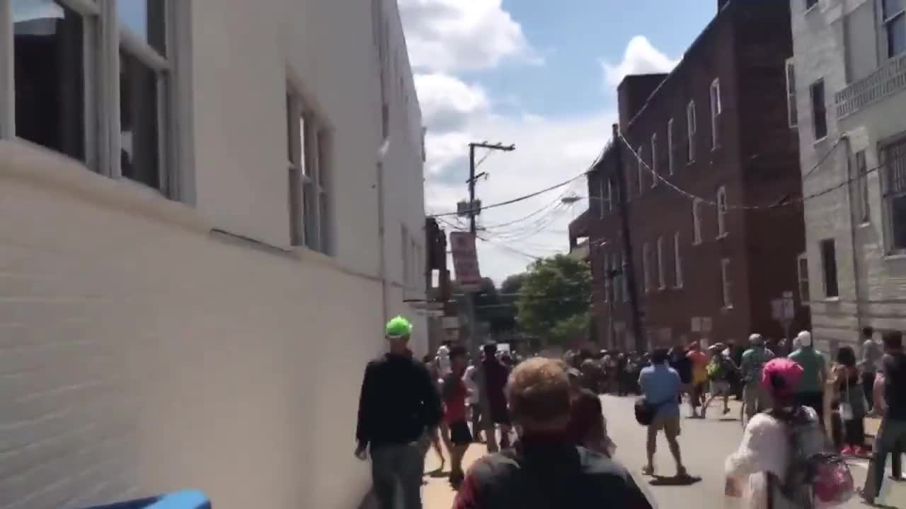 USA: Terrifying moment car rams into protesters at Charlottesville alt-right rally