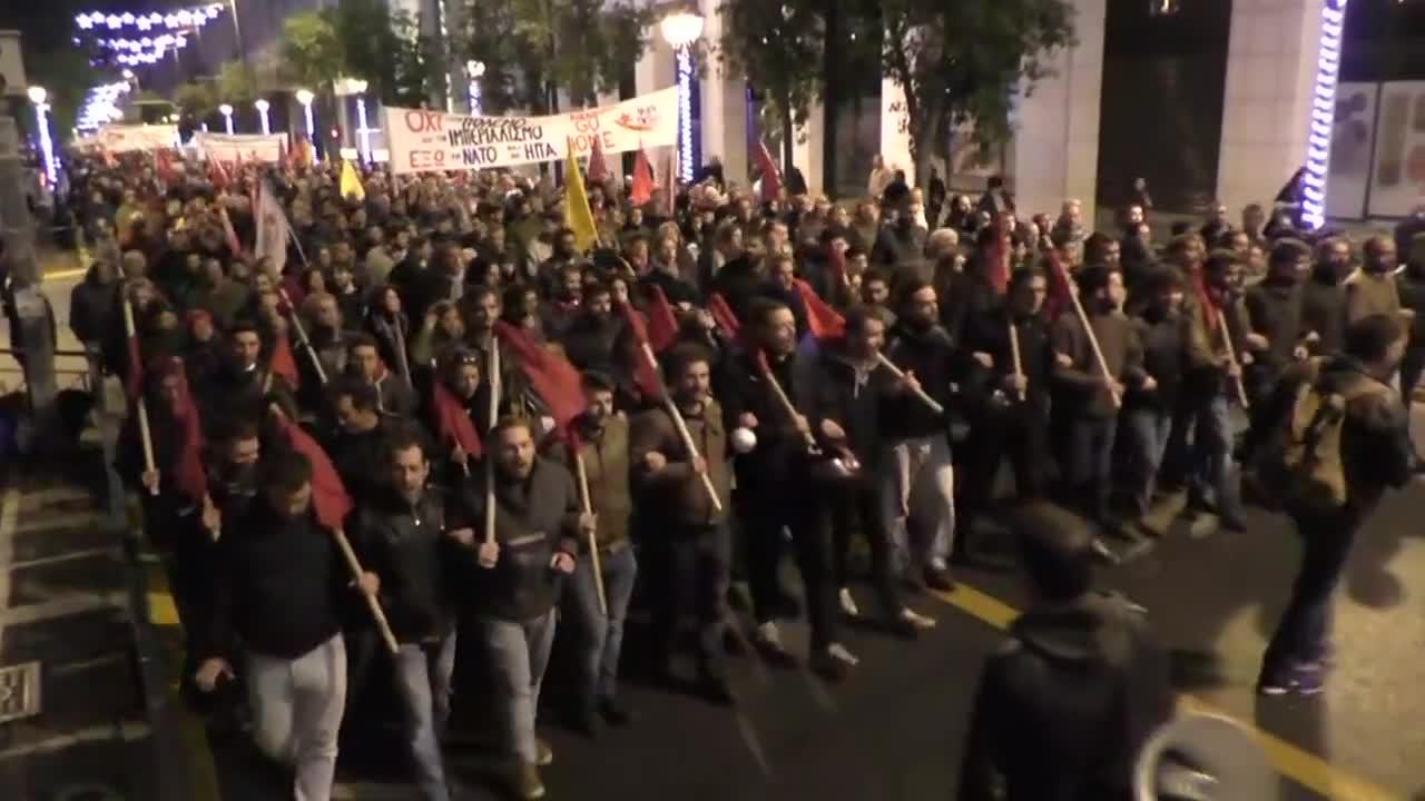 Сблъсъци в Атина заради посещението на Обама