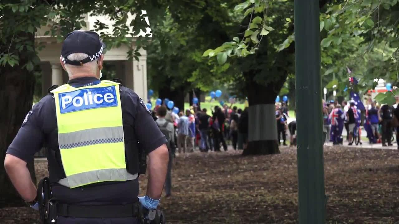 Australia: Melbourne protesters defy COVID rules in 'Australia Day' rally