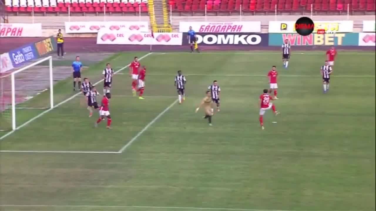 Голът на Тиаго Родригес срещу Локомотив Пд