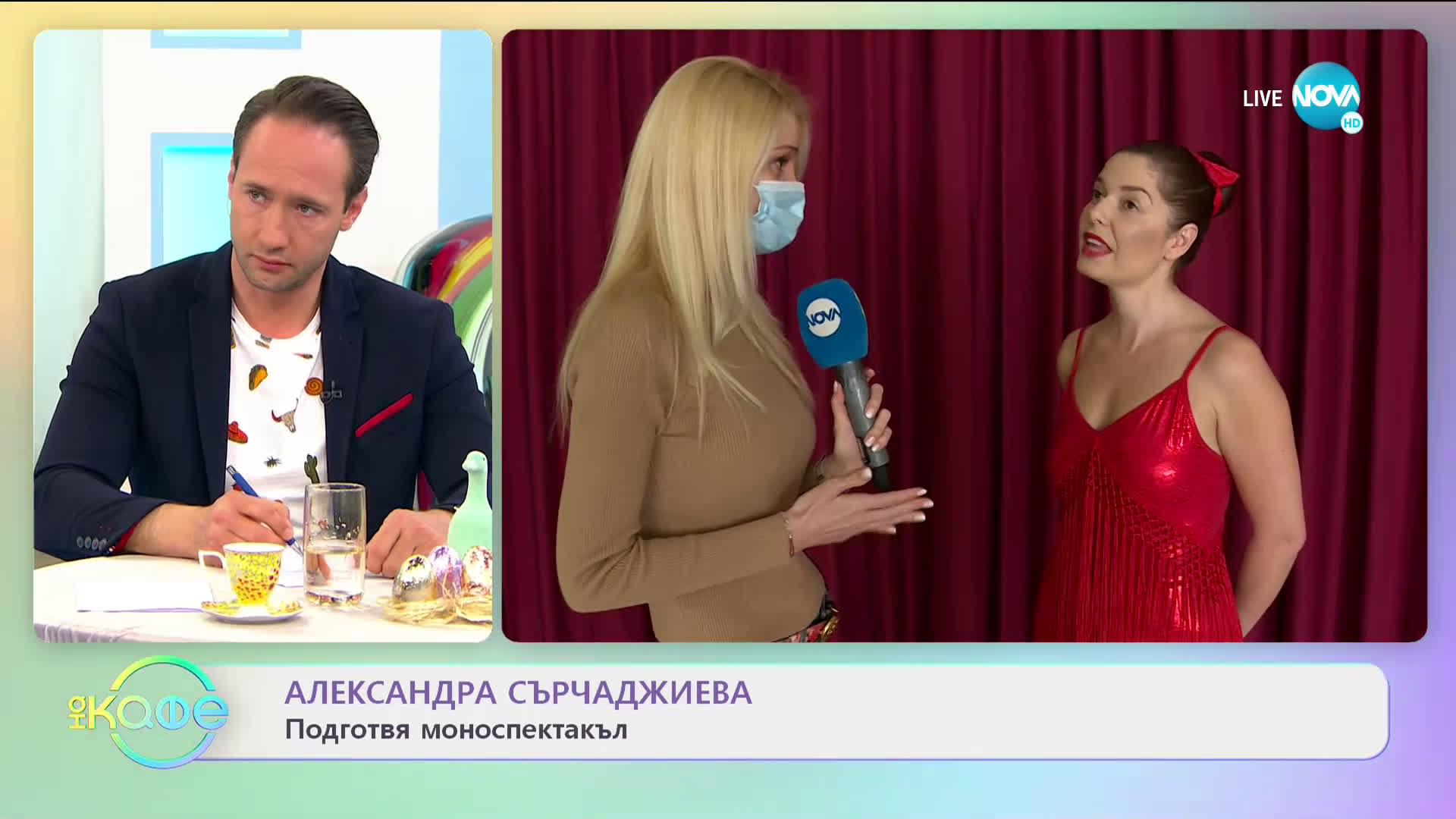 Александра Сърчаджиева подготвя моноспектакъл - На кафе (26.04.2021)