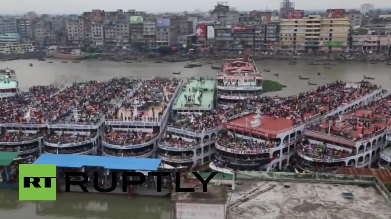Bangladesh: Dhaka empties as millions head home for Eid al-Fitr