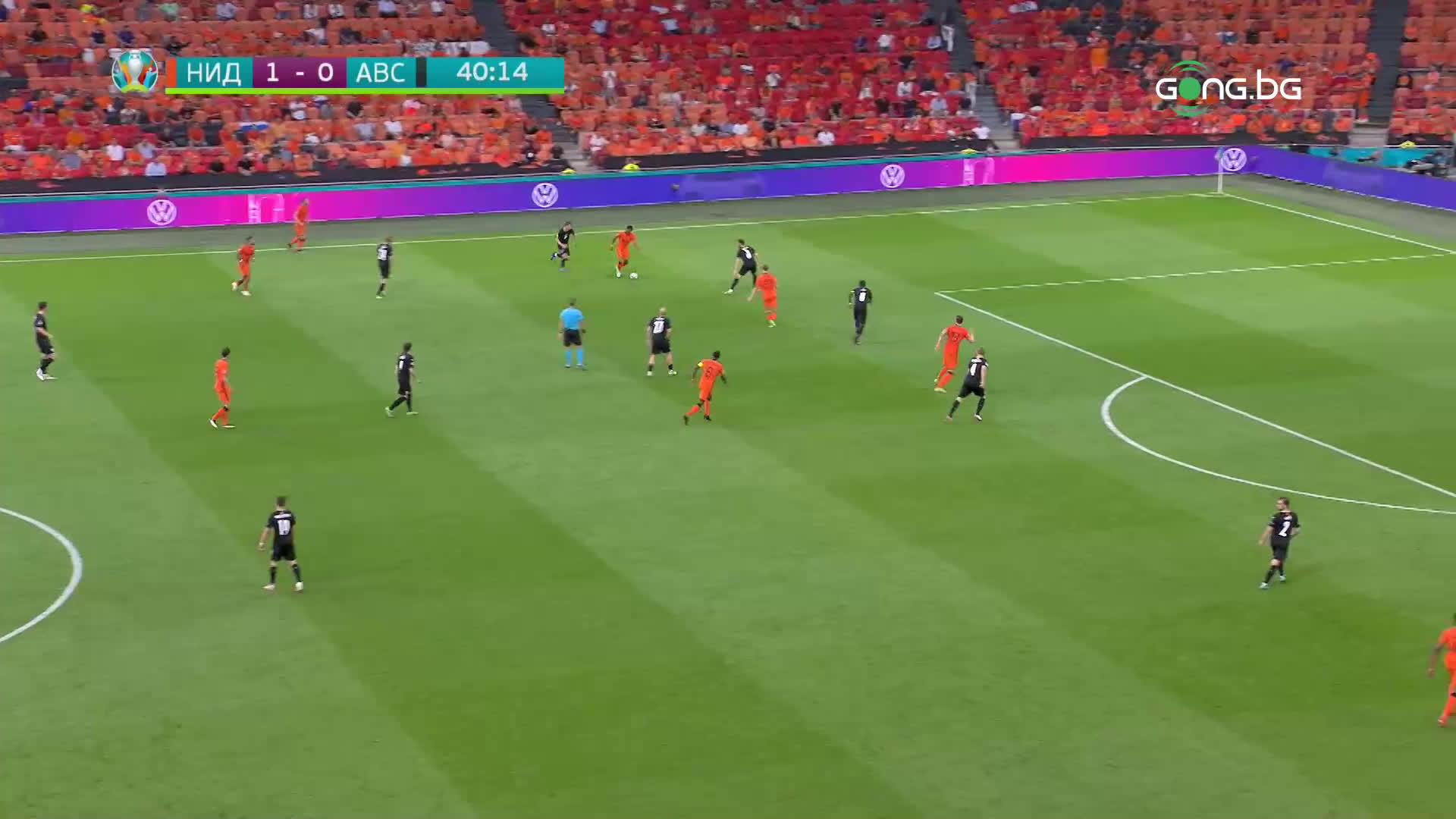 Нидерландия - Австрия 1:0 /първо полувреме/