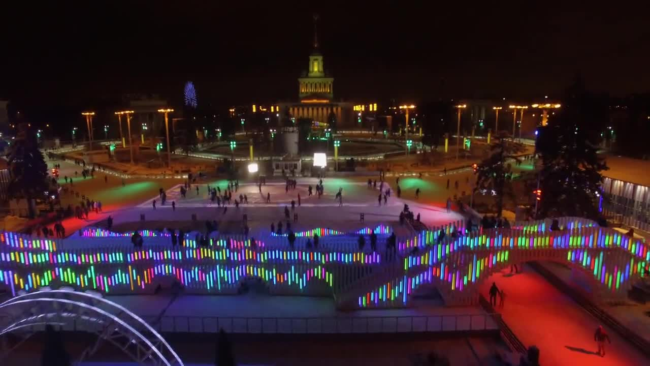 Russia: Drone captures world's biggest ice rink ahead of New Year celebrations