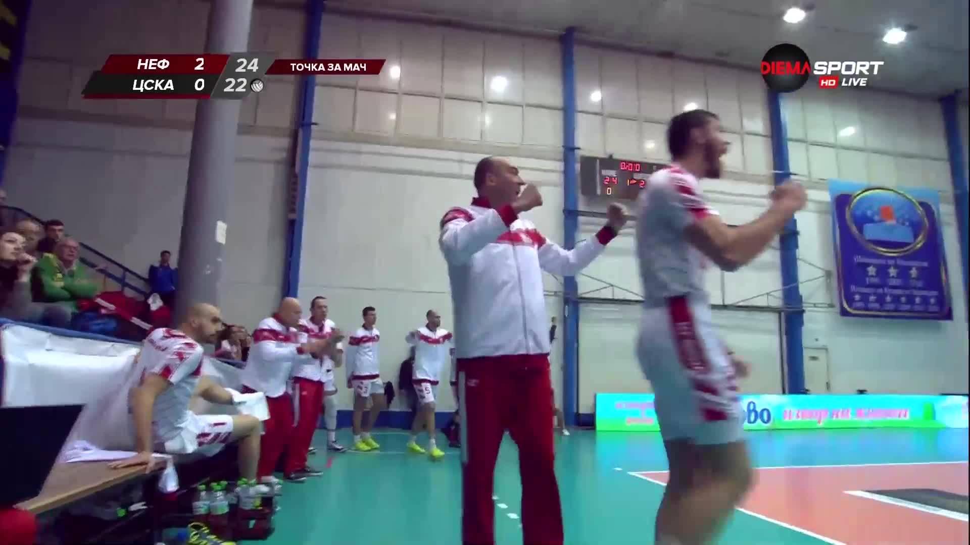 Нефтохимик - ЦСКА /3:0 гейма в 1/4-финал за Купата/