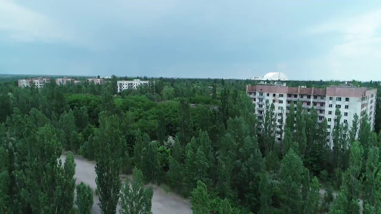 Drone captures grim view of ghost town of Pripyat in Chernobyl Exclusion Zone