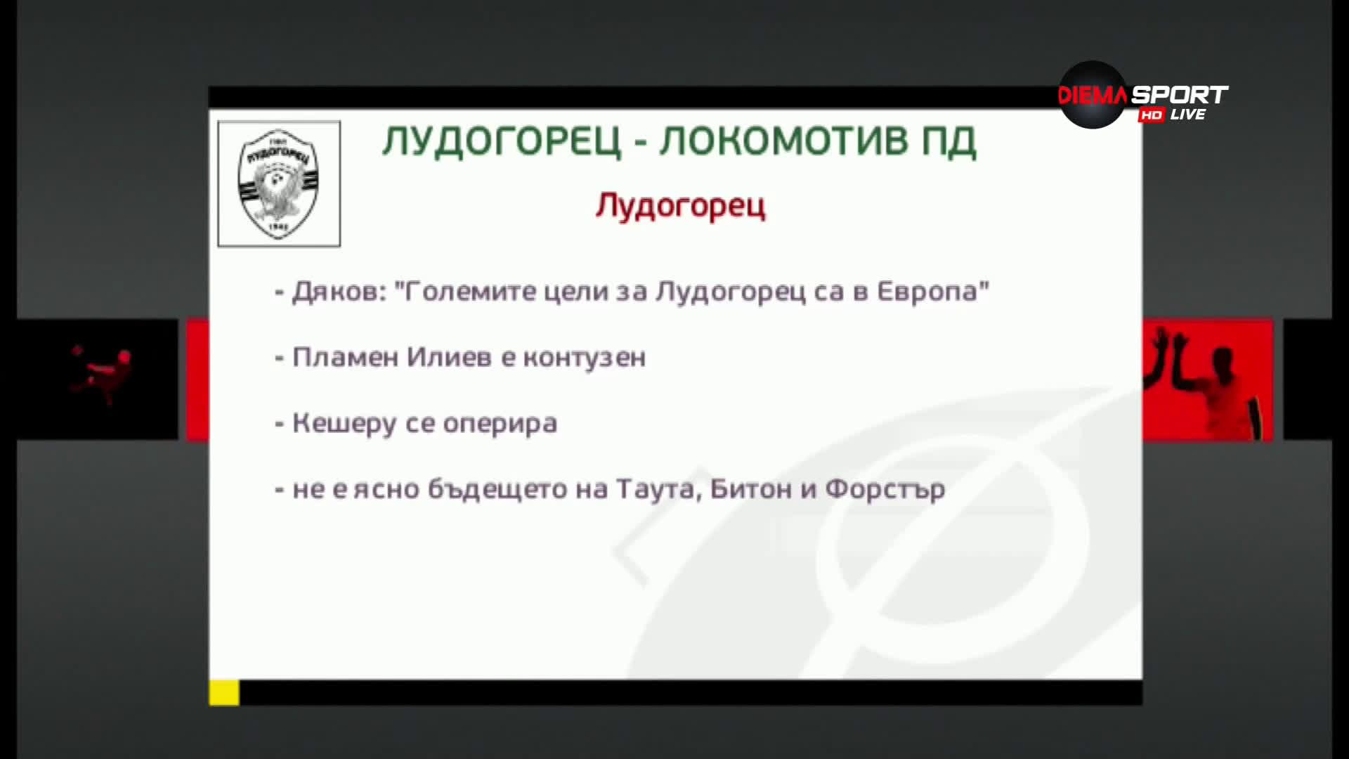 Преди Лудогорец - Локомотив Пловдив