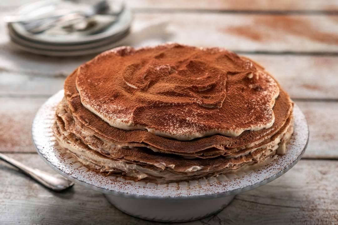 24Kitchen   Бон Апети   Палачинкова торта тирамису