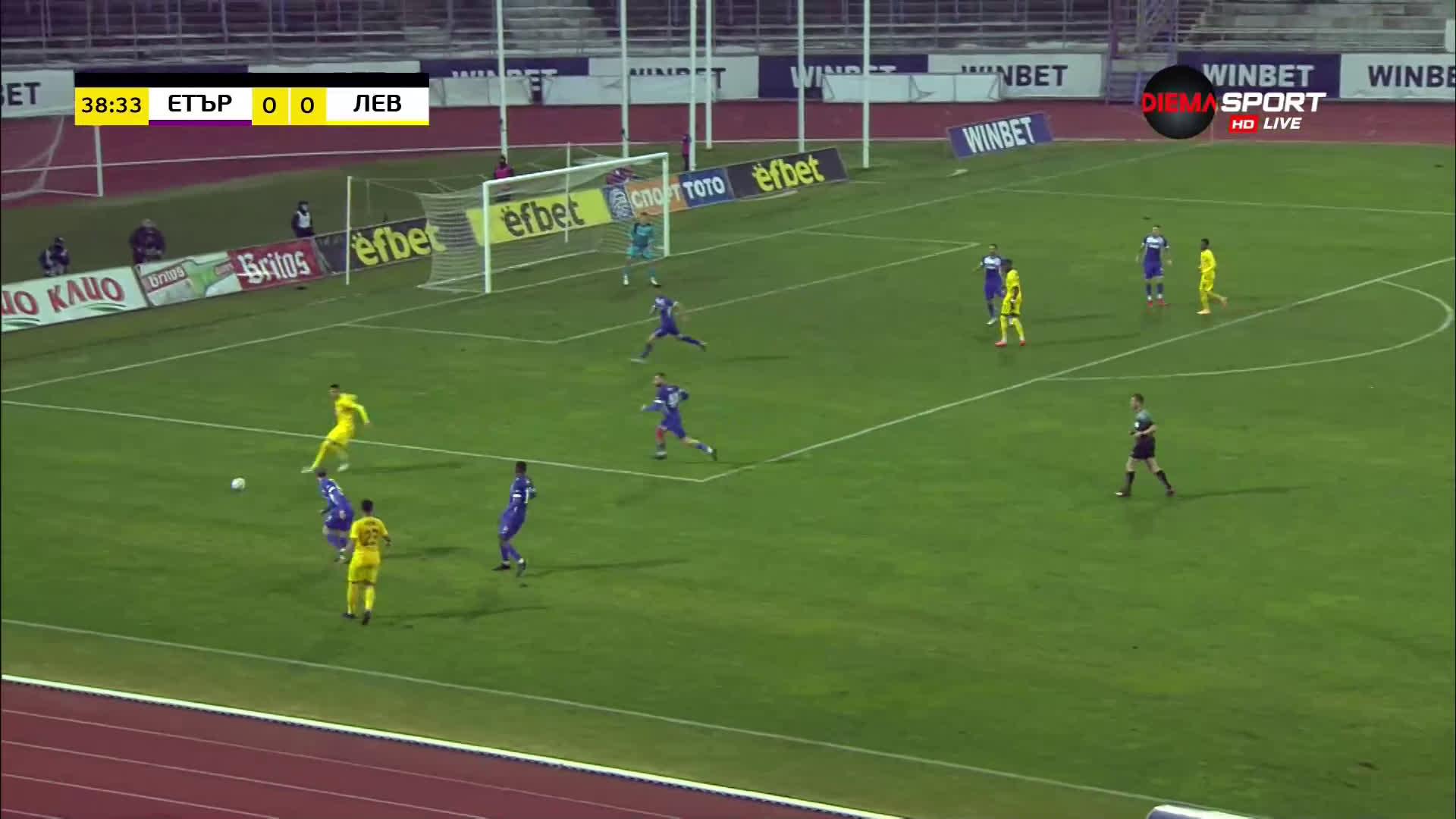 Етър - Левски 0:0 /първо полувреме/