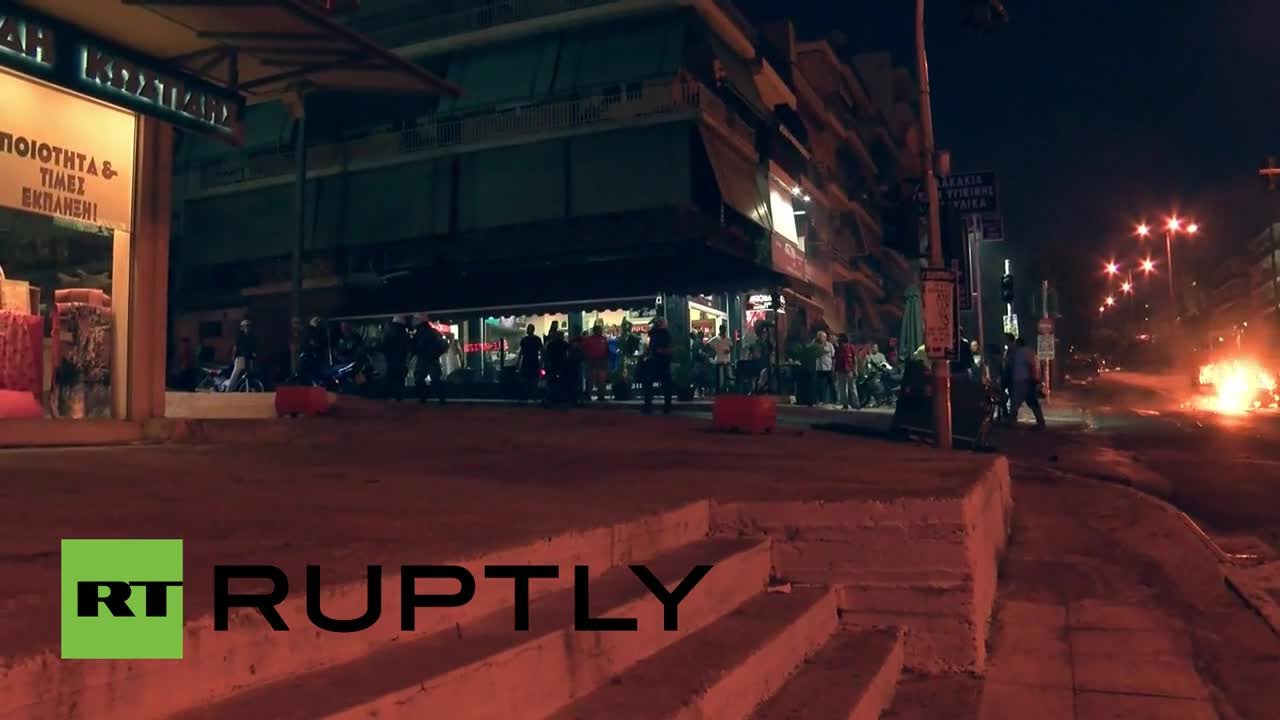 Greece: Anti-fascists clash with police in Athens