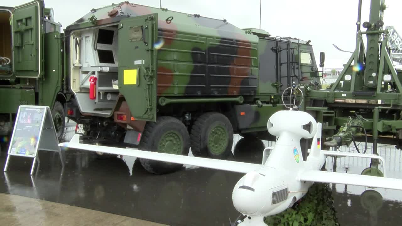 Germany: Army showcase latest military drone at Berlin air show
