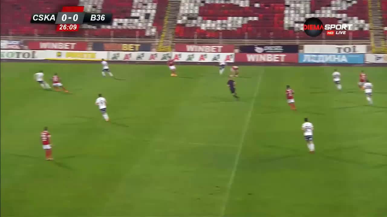 ЦСКА - Б36 Торсхавн 2:0 /първо полувреме/